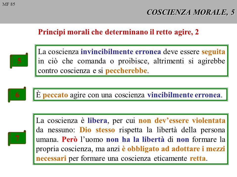 Principi morali che determinano il retto agire, 2