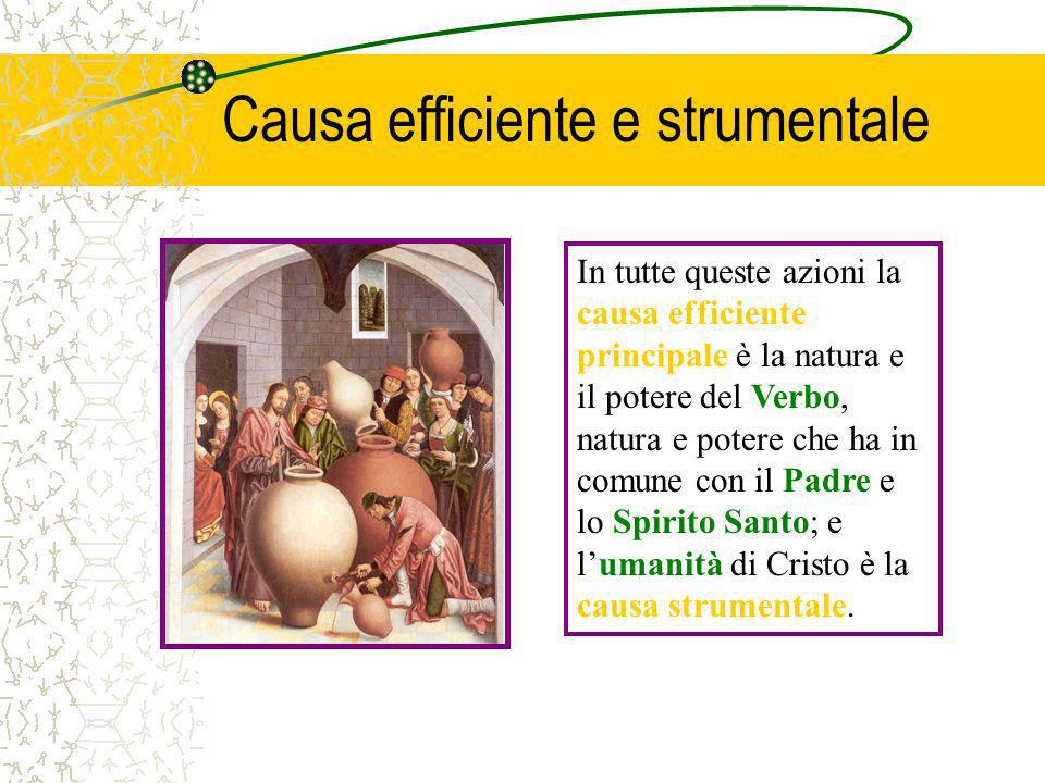 Causa efficiente e strumentale