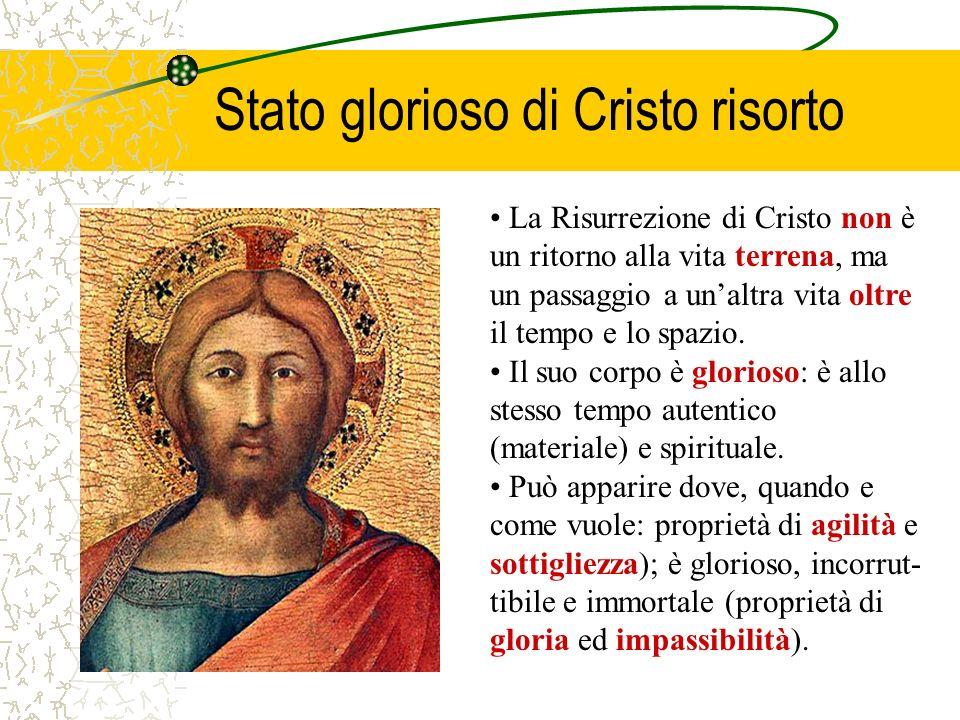 Stato glorioso di Cristo risorto