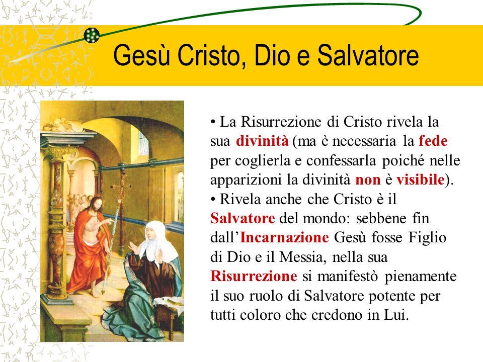 Gesù Cristo, Dio e Salvatore