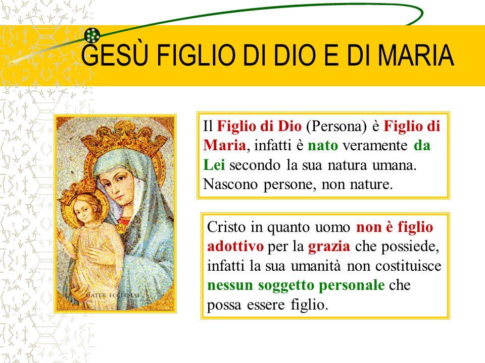 GESÙ FIGLIO DI DIO E DI MARIA