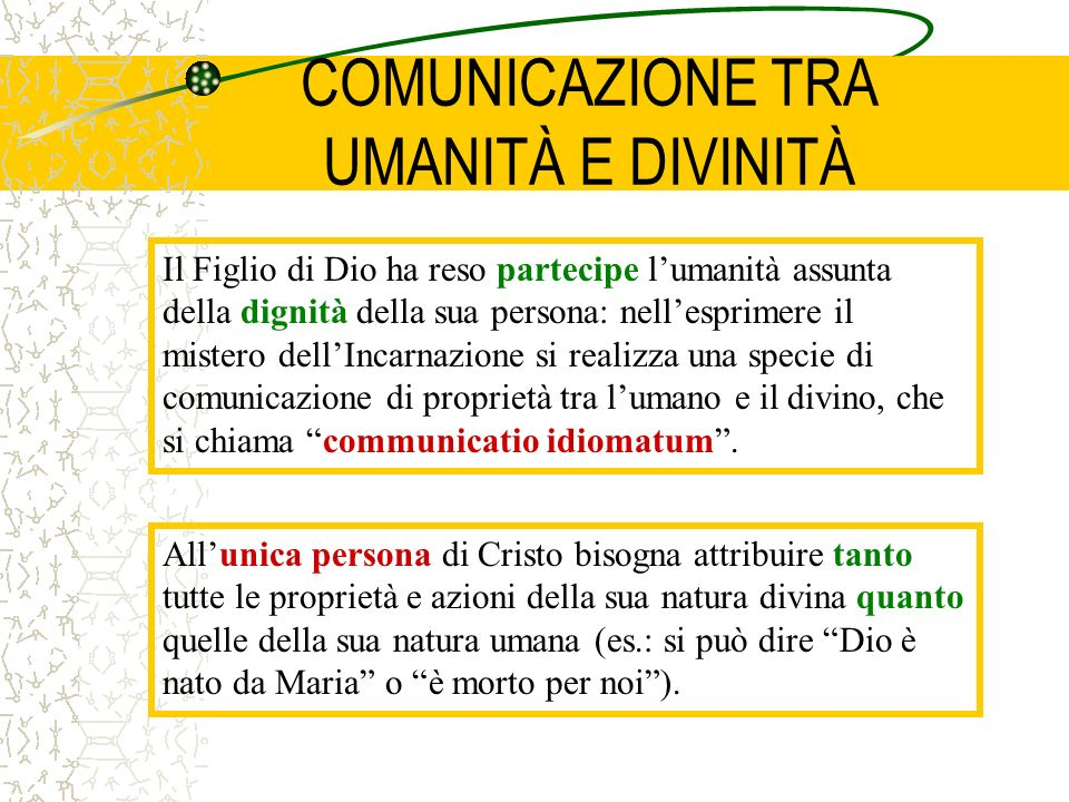COMUNICAZIONE TRA UMANITÀ E DIVINITÀ
