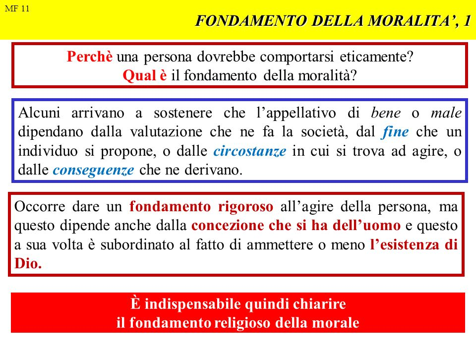 FONDAMENTO DELLA MORALITA', 1