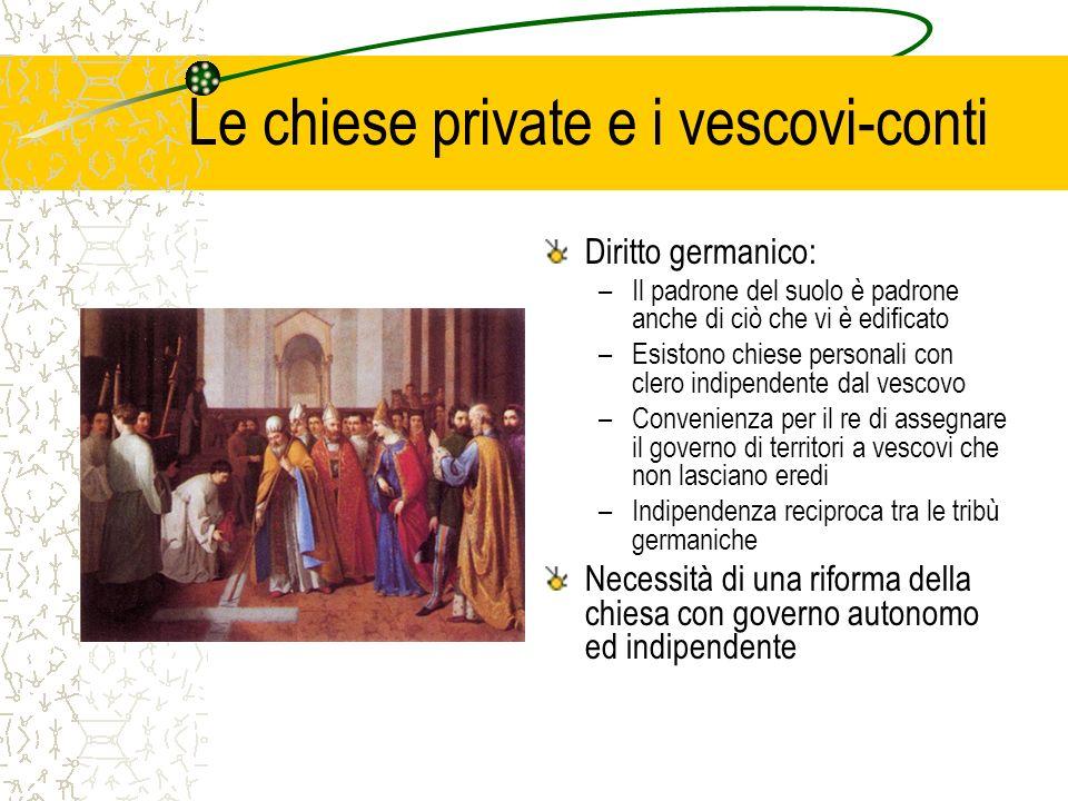 Le chiese private e i vescovi-conti