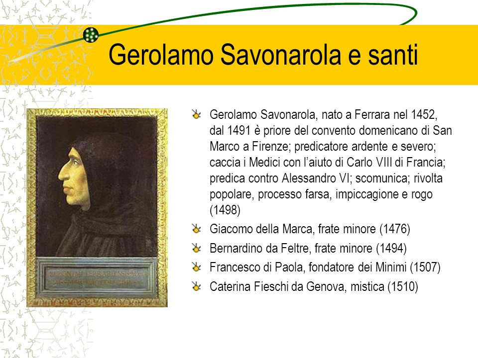 Gerolamo Savonarola e santi