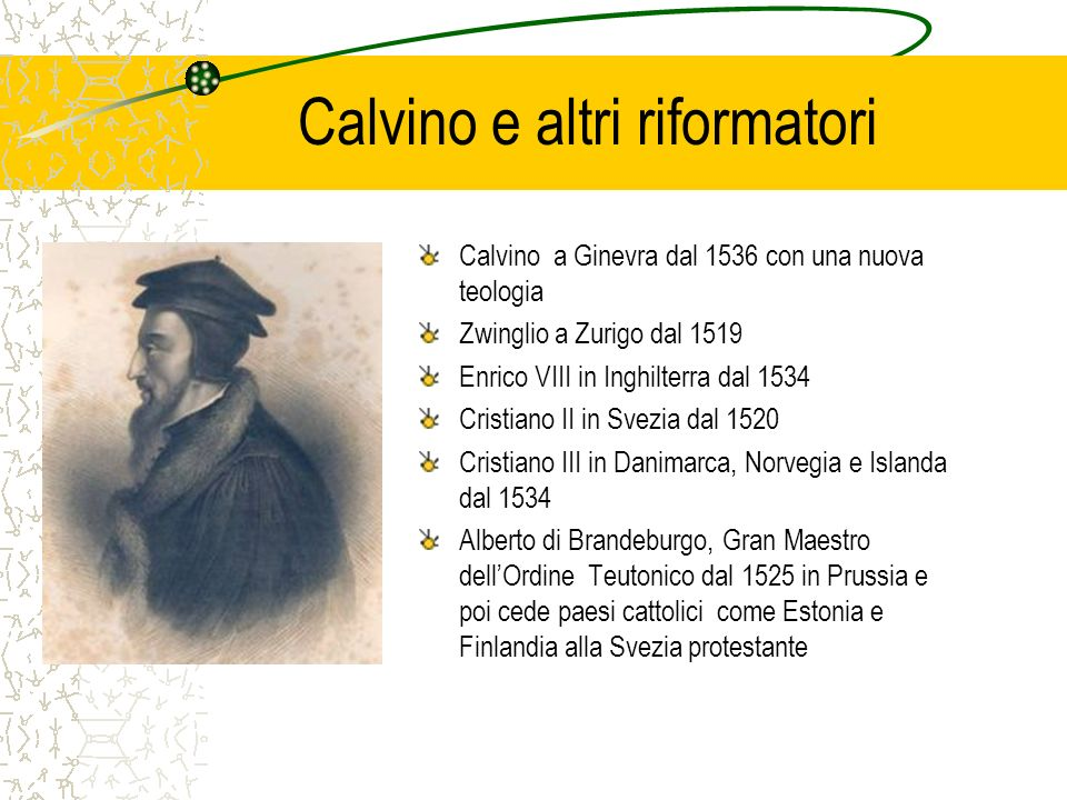 Calvino e altri riformatori