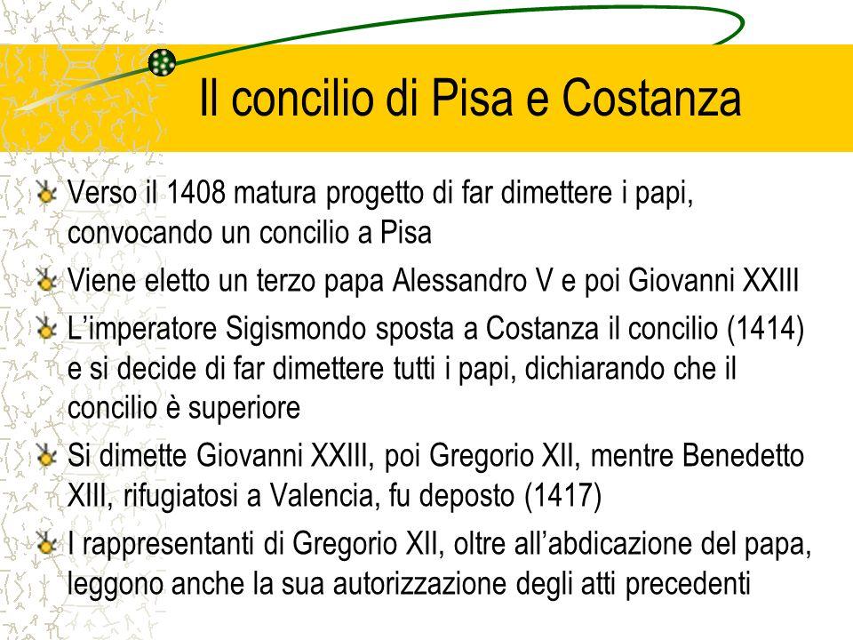 Il concilio di Pisa e Costanza