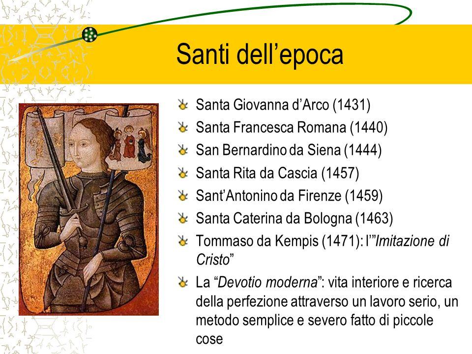 Santi dell'epoca Santa Giovanna d'Arco (1431)
