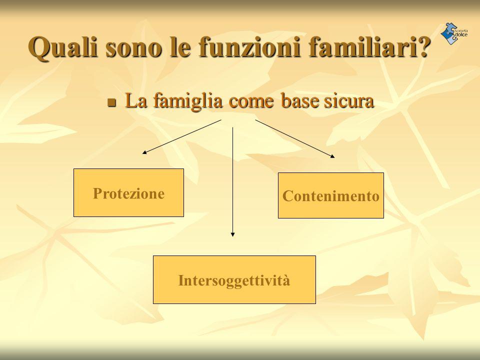 Quali sono le funzioni familiari