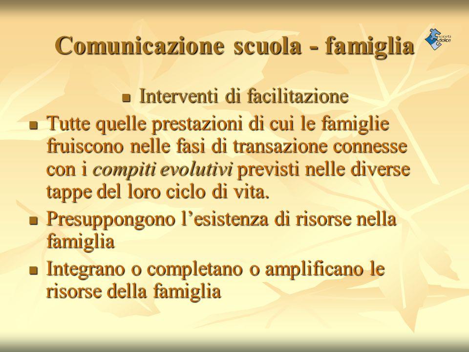 Comunicazione scuola - famiglia