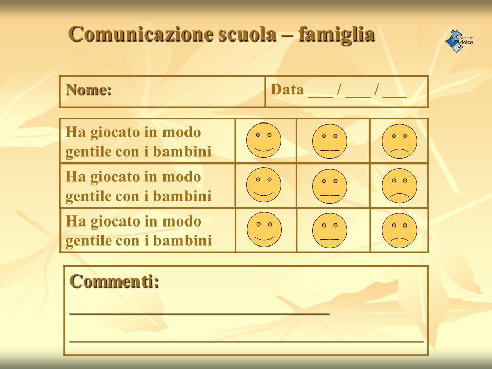 Comunicazione scuola – famiglia