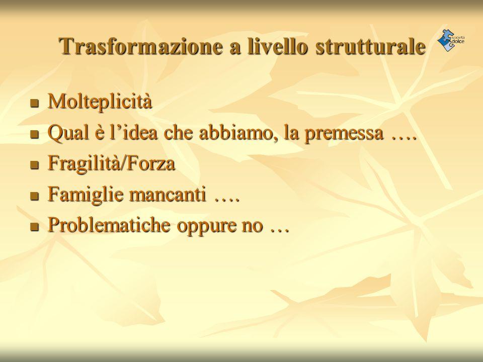 Trasformazione a livello strutturale