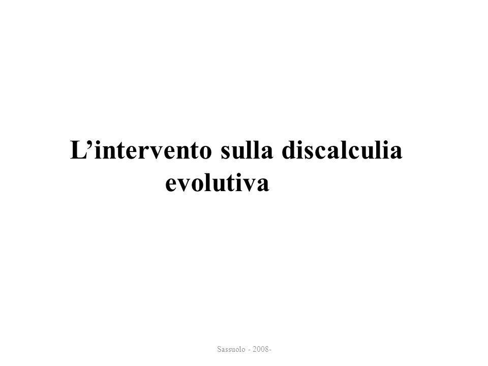 L'intervento sulla discalculia evolutiva