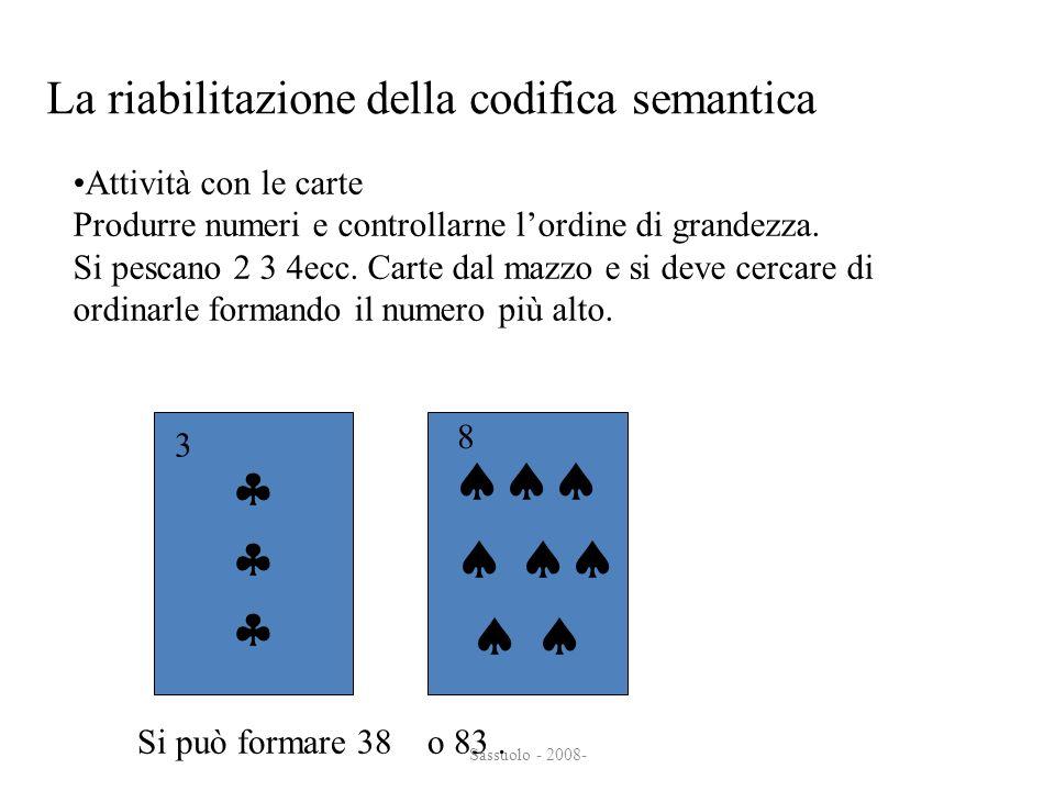       La riabilitazione della codifica semantica