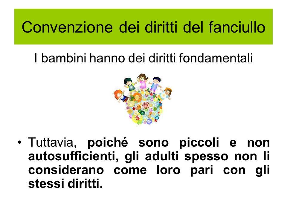 Convenzione dei diritti del fanciullo