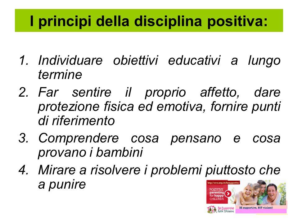 I principi della disciplina positiva: