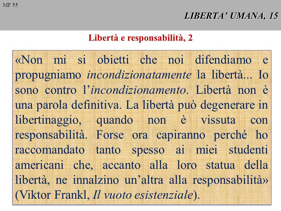 Libertà e responsabilità, 2