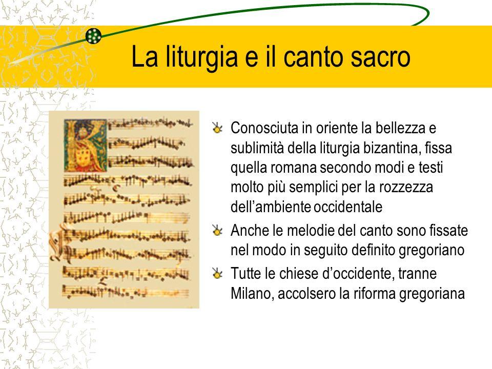 La liturgia e il canto sacro