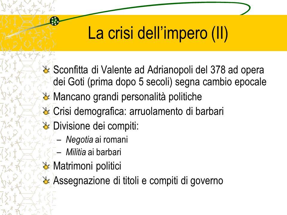 La crisi dell'impero (II)
