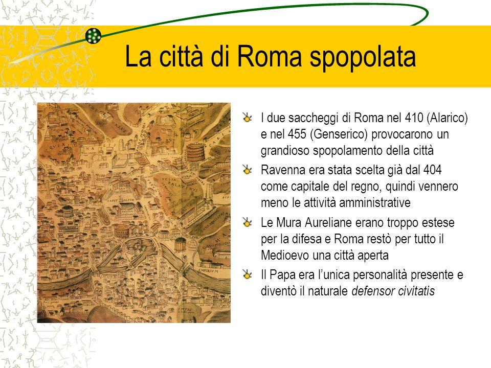 La città di Roma spopolata