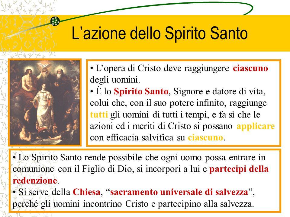 L'azione dello Spirito Santo