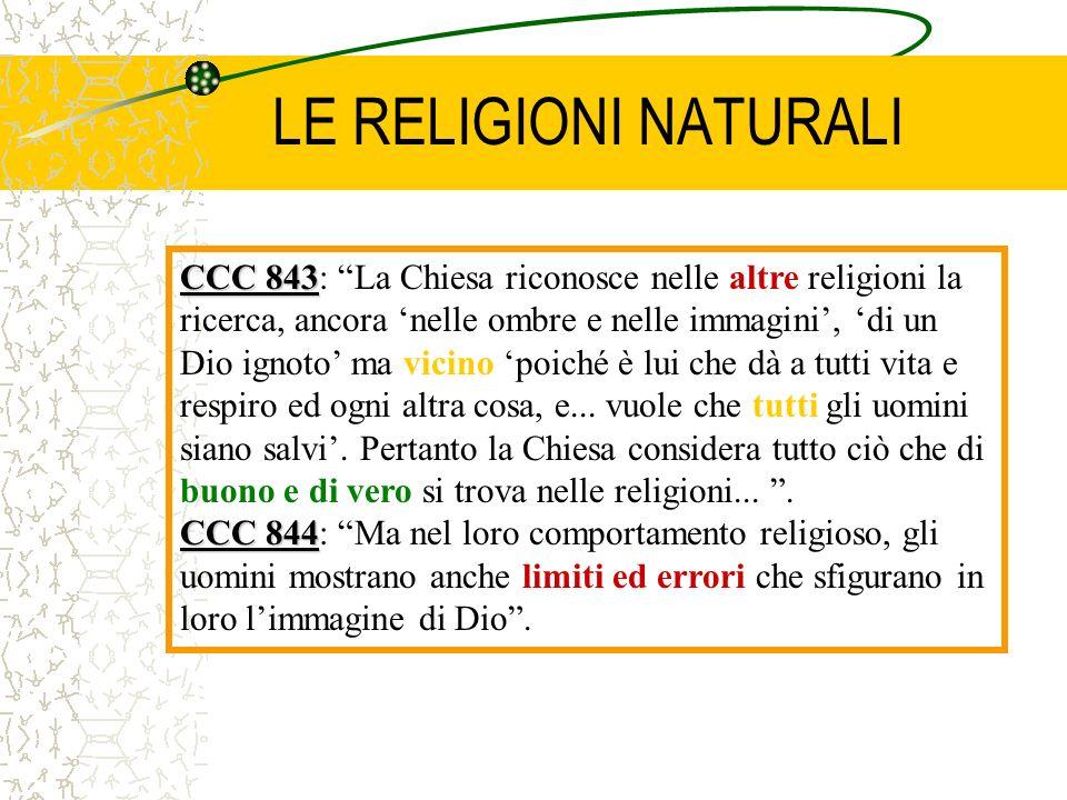 LE RELIGIONI NATURALI