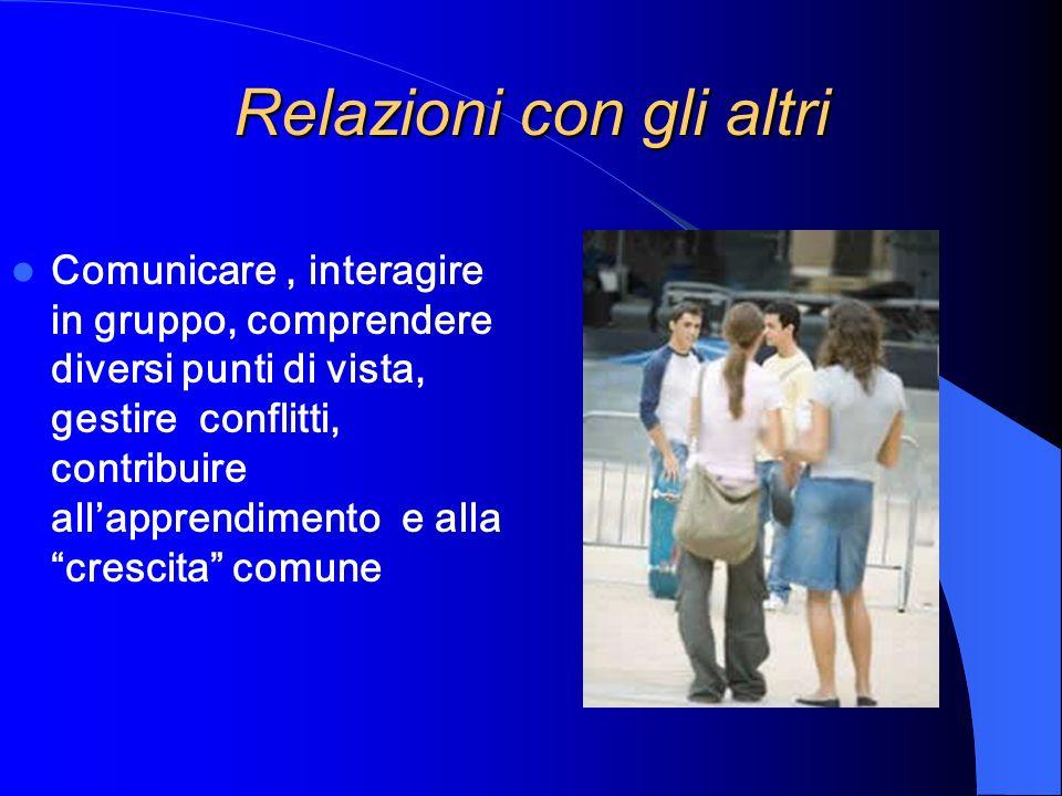 Relazioni con gli altri