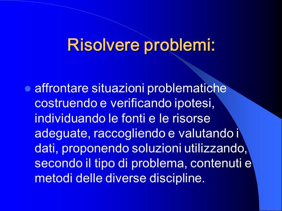 Risolvere problemi: