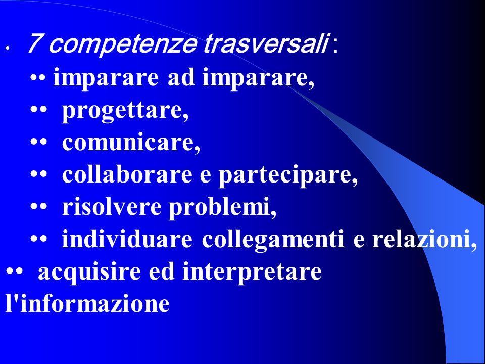 • collaborare e partecipare, • risolvere problemi,