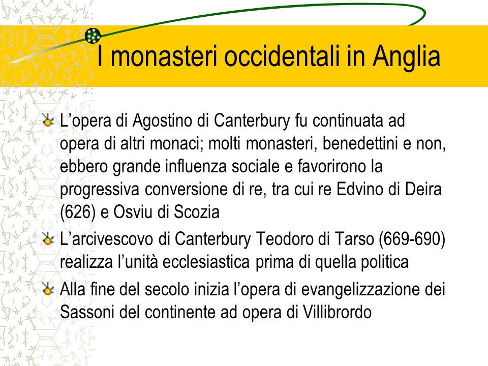 I monasteri occidentali in Anglia