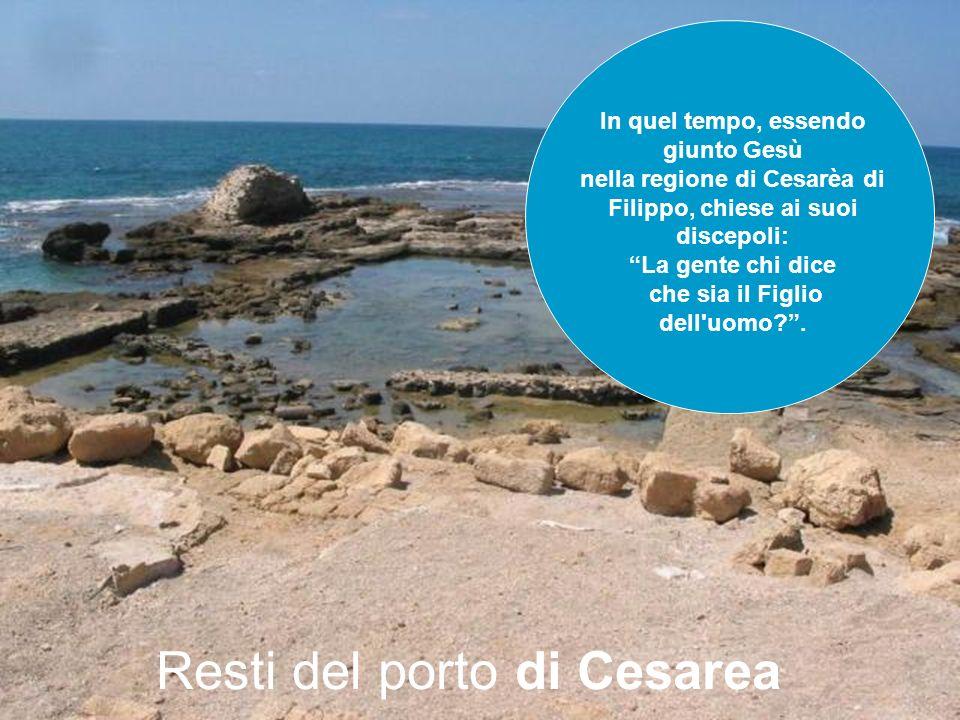 Resti del porto di Cesarea