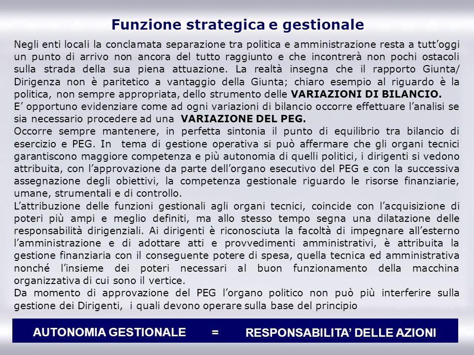 Funzione strategica e gestionale