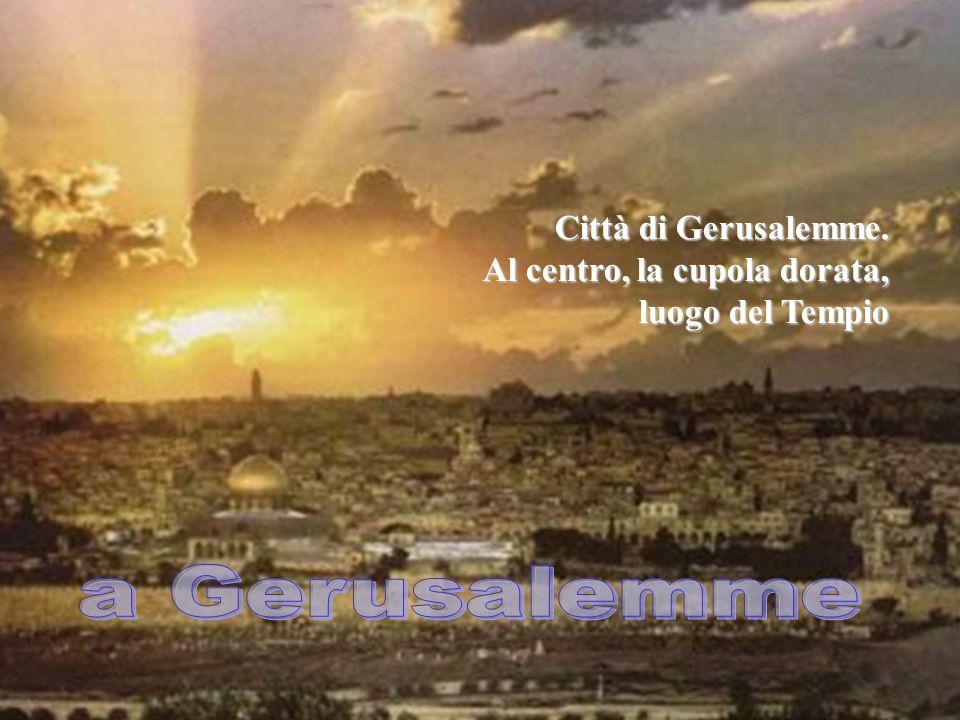 a Gerusalemme Signore, vogliamo salire con Te nella Città,