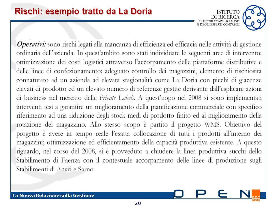 Rischi: esempio tratto da La Doria