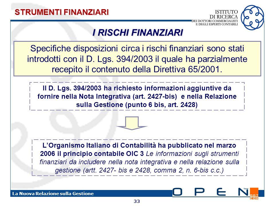 STRUMENTI FINANZIARI I RISCHI FINANZIARI.
