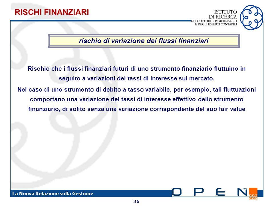 rischio di variazione dei flussi finanziari