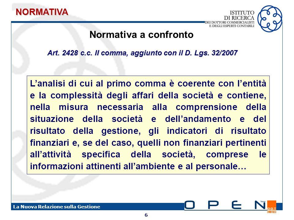 Art. 2428 c.c. II comma, aggiunto con il D. Lgs. 32/2007