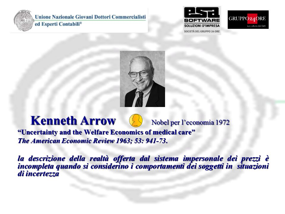 Kenneth Arrow Nobel per l'economia 1972