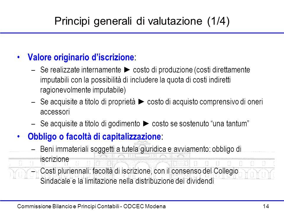 Principi generali di valutazione (1/4)