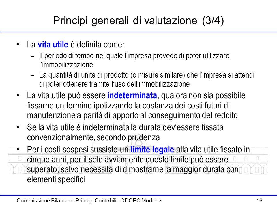 Principi generali di valutazione (3/4)