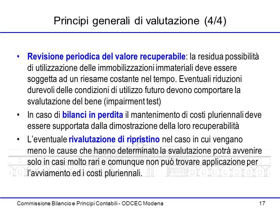 Principi generali di valutazione (4/4)
