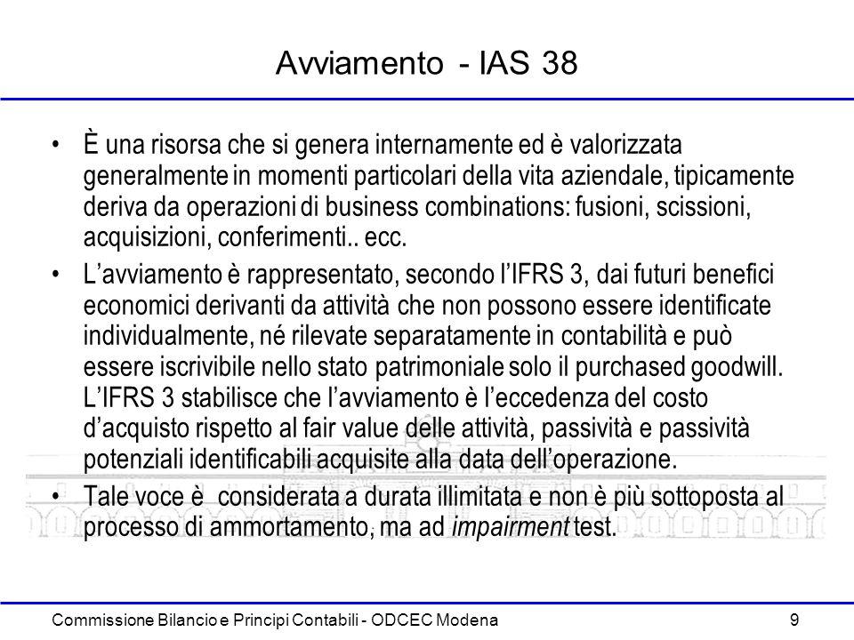 Commissione Bilancio e Principi Contabili - ODCEC Modena