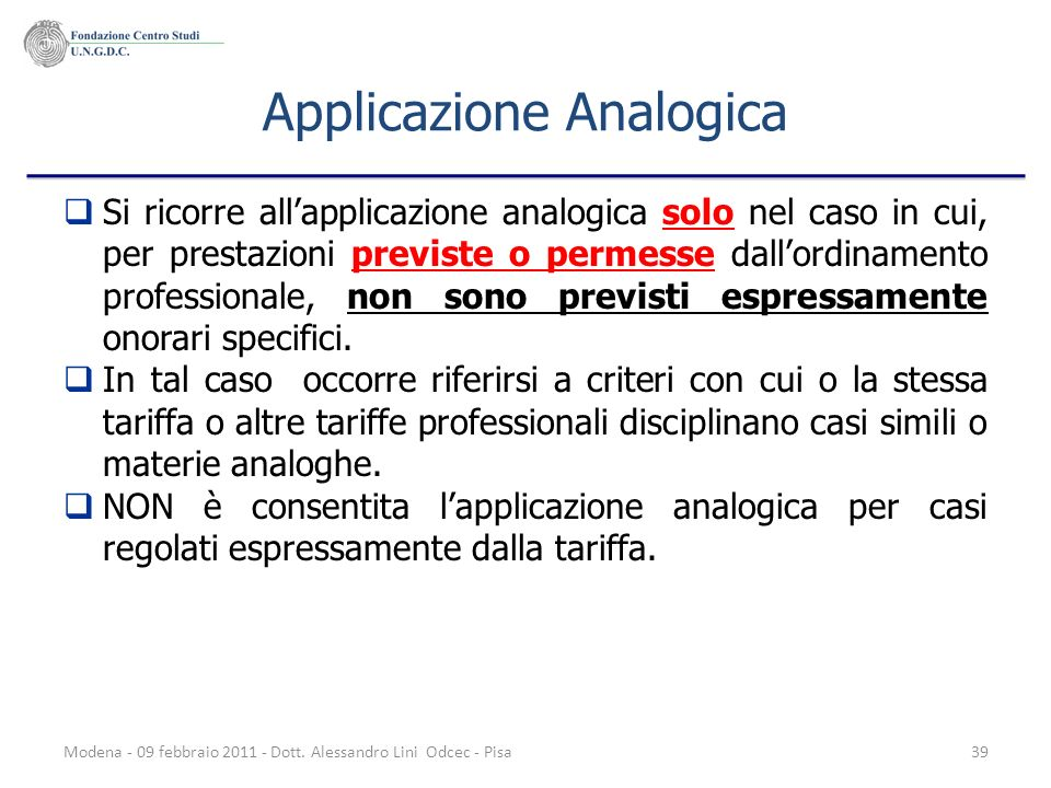 Applicazione Analogica