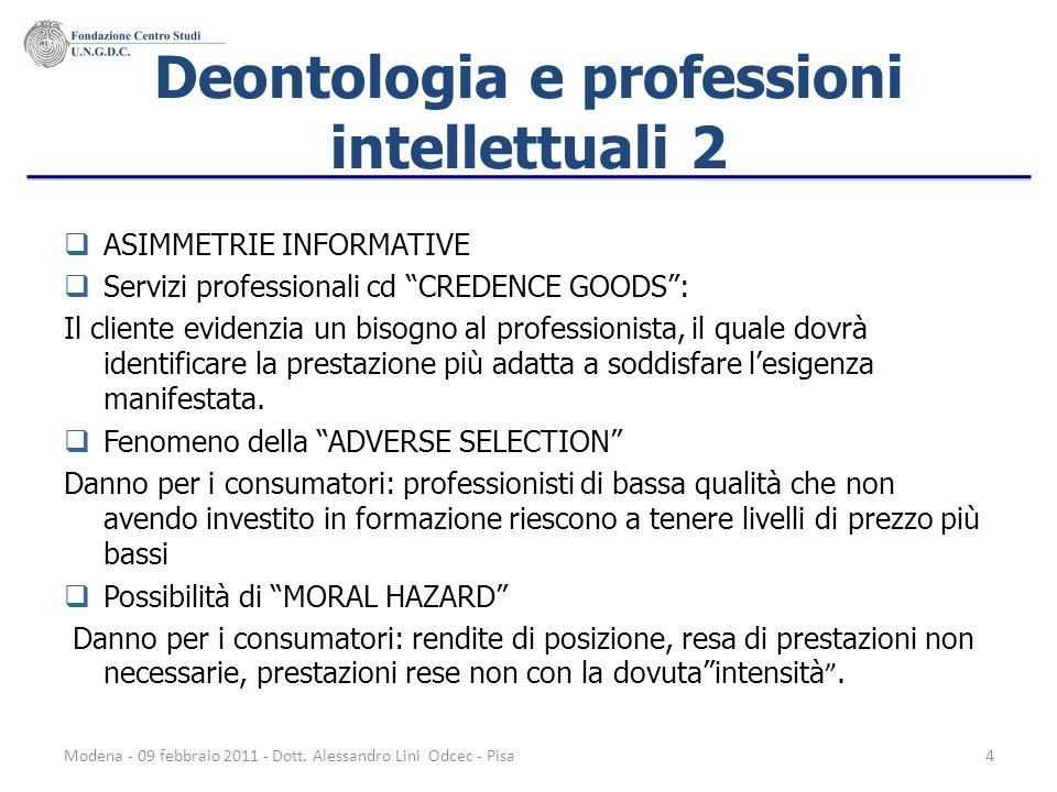 Deontologia e professioni intellettuali 2