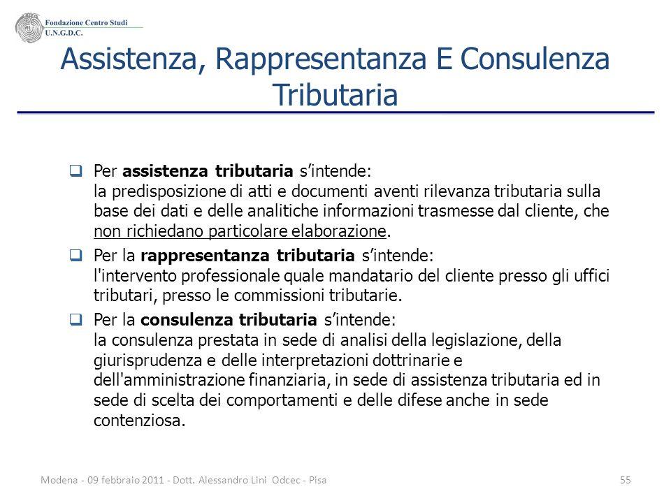Assistenza, Rappresentanza E Consulenza Tributaria