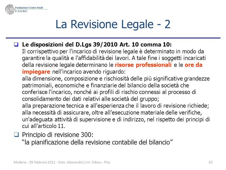 La Revisione Legale - 2