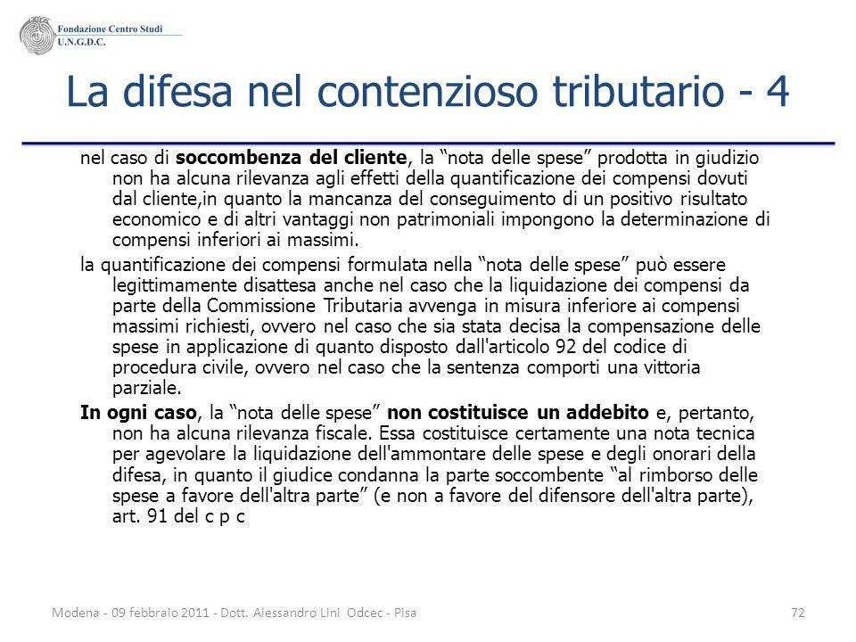 La difesa nel contenzioso tributario - 4