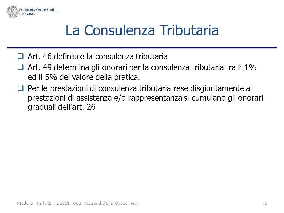 La Consulenza Tributaria