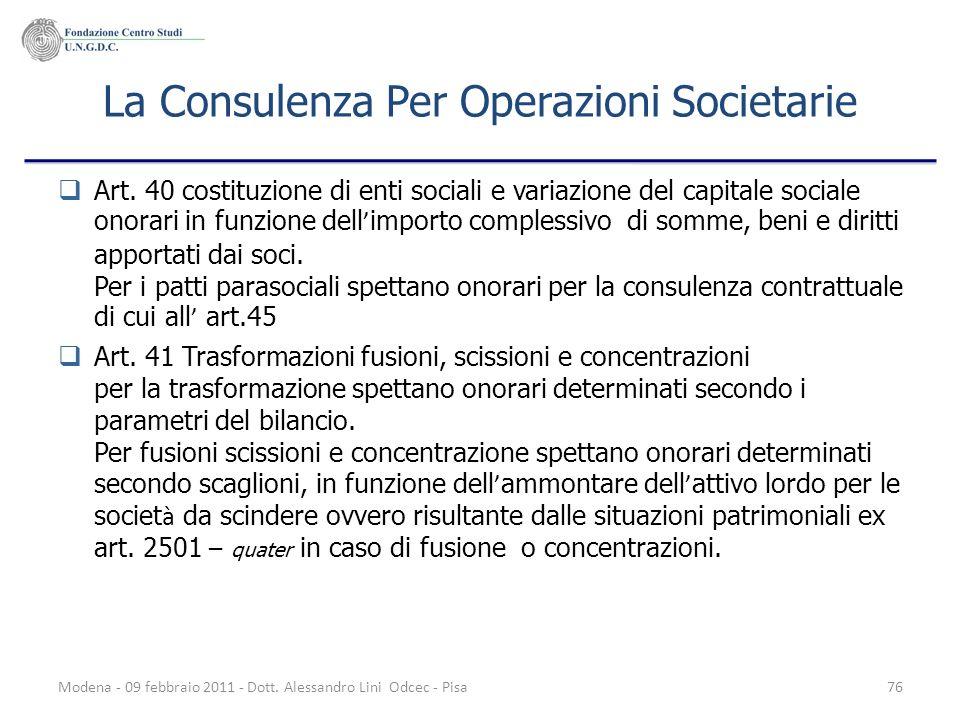 La Consulenza Per Operazioni Societarie