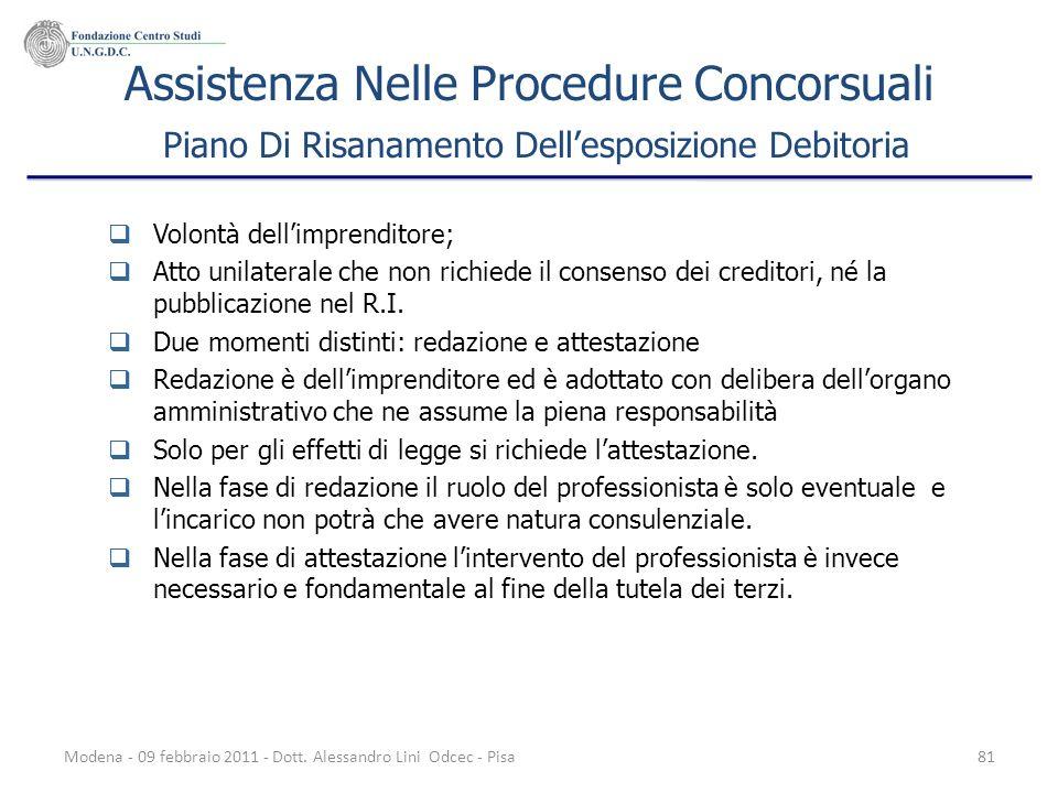 Assistenza Nelle Procedure Concorsuali Piano Di Risanamento Dell'esposizione Debitoria